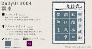 #DailyUI - 004 電卓(Calculator)